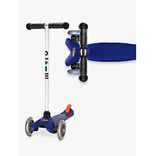 Buy Micro Mini Micro T-Bar Scooter, Blue Online at johnlewis.com