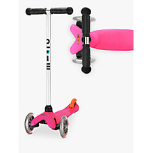 Buy Mini Micro Scooter, 3-5 years, Pink Online at johnlewis.com