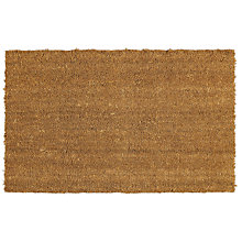 Buy John Lewis Plain Coir Door Mat, Natural Online at johnlewis.com