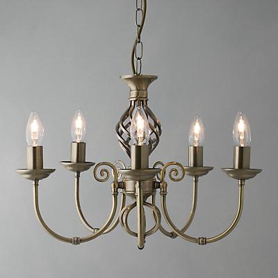 John Lewis Malik Ceiling Light, 5 Arm