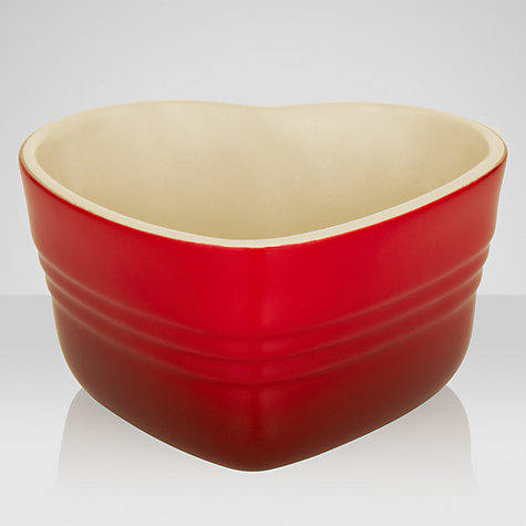 Buy Le Creuset Heart Ramekin, Cerise Online at johnlewis.com