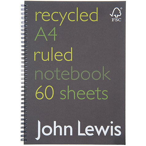Buy John Lewis A4 Recycled Notebook Online at johnlewis.com