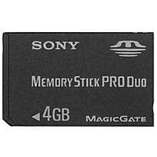 Buy Sony Memory Stick Pro Duo, 4GB Online at johnlewis.com