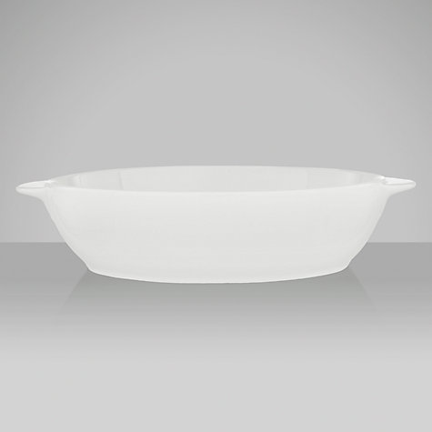 Buy Denby White Large Oval Dish, 1.8L Online at johnlewis.com