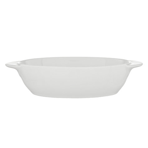 Buy Denby White Small Oval Dish, 0.5L Online at johnlewis.com