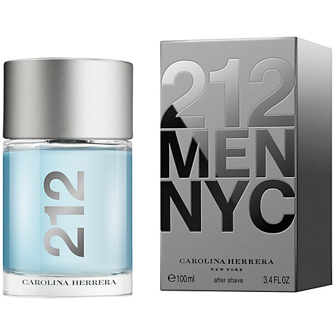 Buy Carolina Herrera 212 Men Aftershave, 100ml Online at johnlewis.com