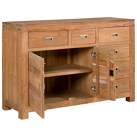 Buy John Lewis Batamba Large 2 Door Sideboard with 6 Right Hand Drawers Online at johnlewis.com