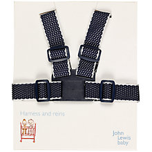 Buy John Lewis Baby Harness and Reins, Navy and White Online at johnlewis.com