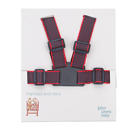 Buy John Lewis Baby Harness and Reins, Navy and Red Online at johnlewis.com