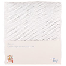 Buy John Lewis Pram and Pushchair Cat Net, White Online at johnlewis.com