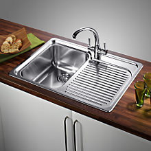 Buy Blanco Classic 4S Sink Kit, Left Hand Bowl, Stainless Steel Online at johnlewis.com