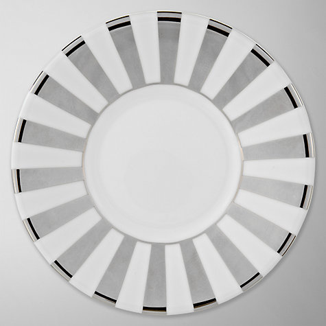 Buy Jasper Conran for Wedgwood Platinum Striped, Espresso Saucer Online at johnlewis.com