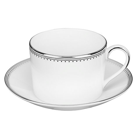 Buy Vera Wang for Wedgwood Grosgrain Tea Cup, 0.15L, White Online at johnlewis.com