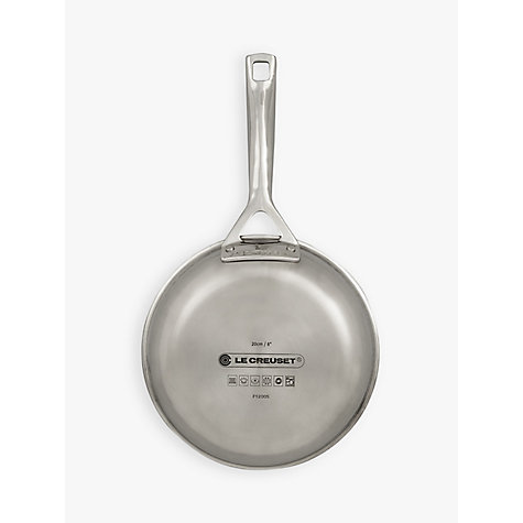 Buy Le Creuset 3-Ply Stainless Steel Omelette Pan, 20cm Online at johnlewis.com