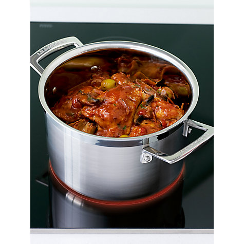 Buy Le Creuset 3-Ply Stainless Steel Deep Casserole, 24cm Online at johnlewis.com