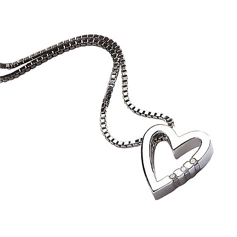 Buy Hot Diamonds Just Add Love Heart Pendant, DP007 Online at johnlewis.com