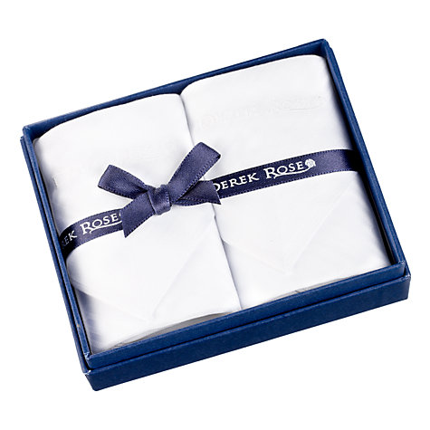 Buy Derek Rose Cotton Handkerchiefs, Pack of 2 Online at johnlewis.com