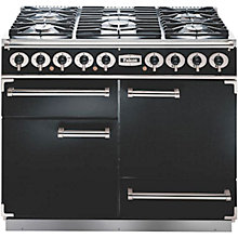 Buy Falcon 1092 Deluxe Dual Fuel Range Cooker, Black / Gloss Chrome Online at johnlewis.com
