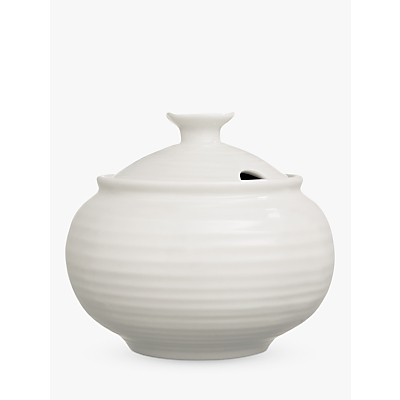 Image of Sophie Conran for Portmeirion Covered Sugar Bowl, White, 0.3L