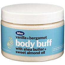 Buy Bliss Vanilla and Bergamot Body Buff, 340g Online at johnlewis.com