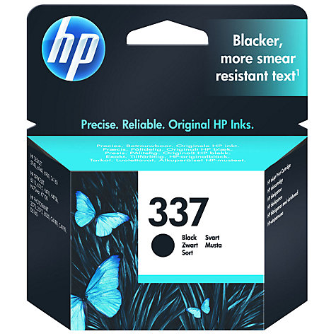 Buy HP 337 Inkjet Cartridge, Black, C9364EE Online at johnlewis.com