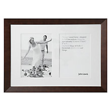 "Buy John Lewis Multi-aperture Photo Frame, Chocolate, 2 Aperture, 5 x 7"" (13 x 18cm) Online at johnlewis.com"