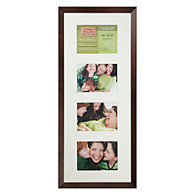 "Buy John Lewis Multi-aperture Photo Frame, Chocolate, 4 Aperture, 5 x 7"" (13 x 18cm) Online at johnlewis.com"