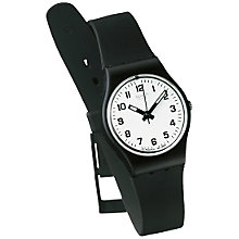 Buy Swatch Something New Children's Watch, Black Online at johnlewis.com