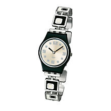 Buy Swatch LB160G Chessboard Watch, Black/White Online at johnlewis.com