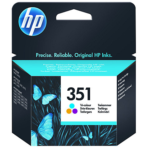 Buy HP 351 Inkjet Cartridge, Tri-colour, CB337EE Online at johnlewis.com