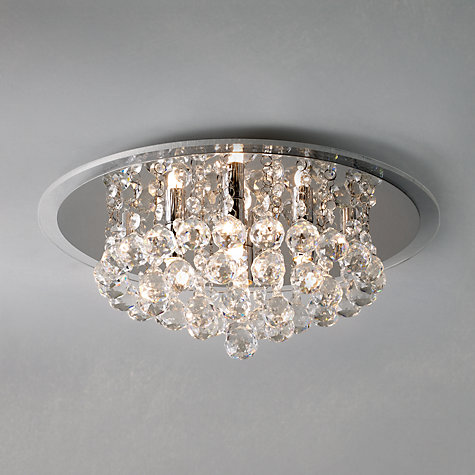 Buy John Lewis Belinda Flush Ceiling Light, Chrome / Crystal Online at johnlewis.com