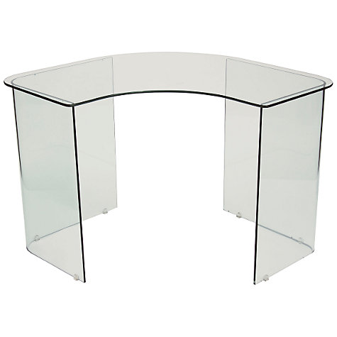 Buy John Lewis Staten Glass Corner Desk Online at johnlewis.com