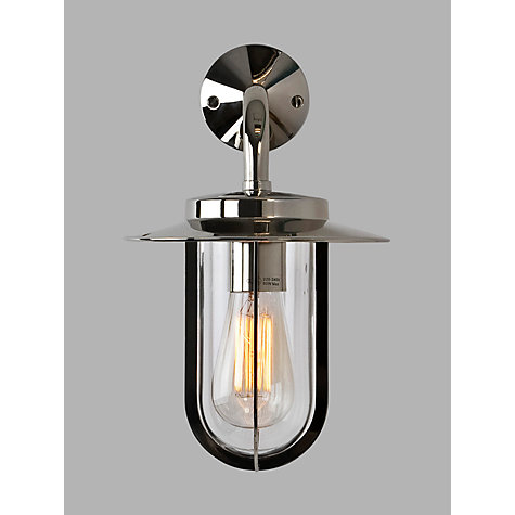 Buy Montparnasse Outdoor Wall Light, Polished Nickel Online at johnlewis.com