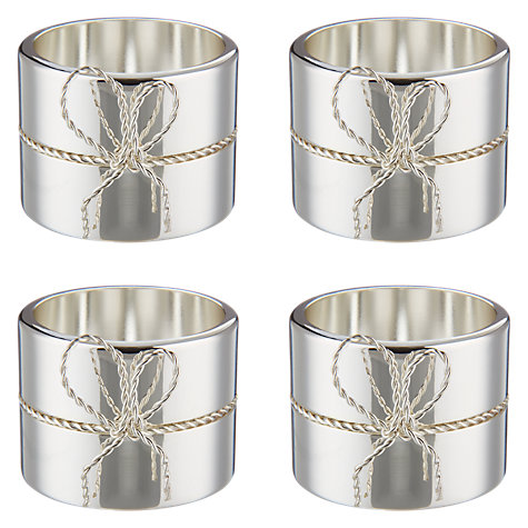 Buy Vera Wang for Wedgwood Love Knots Napkin Rings, Set of 4 Online at johnlewis.com
