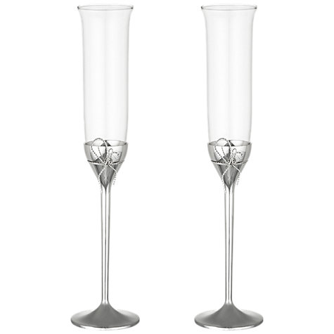 Buy Vera Wang for Wedgwood Love Knots Flutes, Set of 2 Online at johnlewis.com