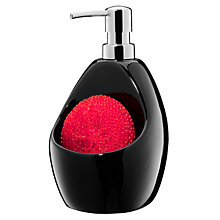 Buy Umbra Joey Soap Pump and Scrubby Holder, Black Online at johnlewis.com