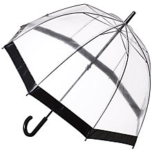 Buy Fulton Birdcage Domed Umbrella, Black Online at johnlewis.com