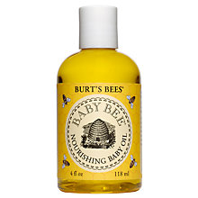 Buy Burt's Bees Baby Bee Nourishing Baby Oil, 100g Online at johnlewis.com