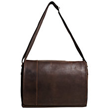 Buy John Lewis Rio Leather Messenger Bag, Brown Online at johnlewis.com