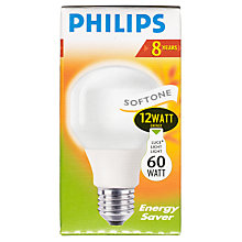Buy Philips 12W ES CFL Bulb Online at johnlewis.com
