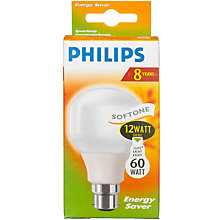 Buy Philips 12W BC CFL Bulb Online at johnlewis.com