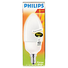Buy Philips 8W CFL Candle Bulb Online at johnlewis.com