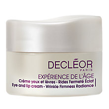Buy Decléor Experience De L'Age Triple Action Eye And Lip Cream, 15ml Online at johnlewis.com
