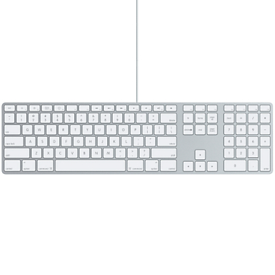 Image of Apple Keyboard, Aluminium with White Keys