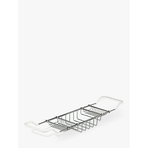 Buy John Lewis Extendable Chrome Bath Rack Online at johnlewis.com