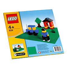 Buy LEGO Building Plate, Green Online at johnlewis.com