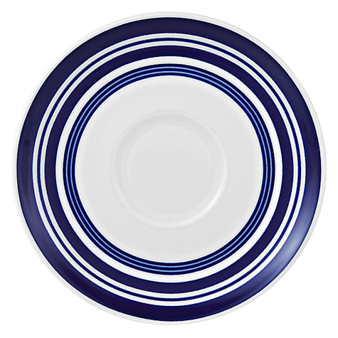 Buy John Lewis Stripes Cups & Saucers, Set of 4, Blue/White Online at johnlewis.com