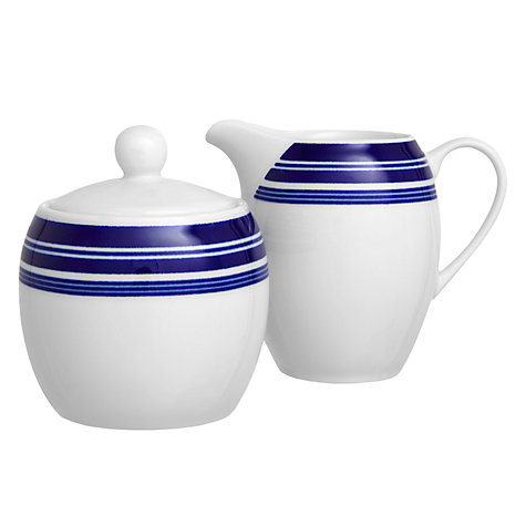 Buy John Lewis Stripes Sugar & Cream Set Online at johnlewis.com