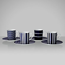 Buy John Lewis Stripes Coffee Cups & Saucers, Set of 4 Online at johnlewis.com