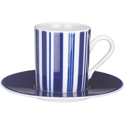 Buy John Lewis Stripes Coffee Cups & Saucers, Set of 4, Black/White Online at johnlewis.com